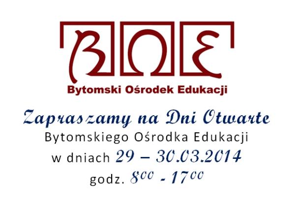 Bytomski Ośrodek Edukacji zaprasza!